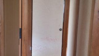 引戸(ふすま)と扉のリフォーム《1》~下処理の剥し