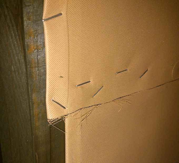 キッチンDIY大作戦 布で手作り壁